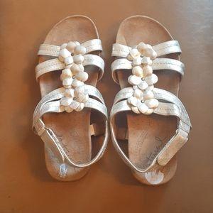 Natural soul sandals 38.5 gold color
